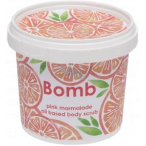 Bomb Cosmetics Pink jam Natural shower body peeling 365 ml