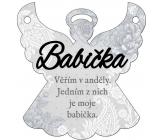 Albi Závěsná plaketka andílek Babička 9 x 10 cm