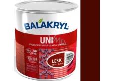 Balakryl Uni Lesk 0245 Tmavě hnědý univerzální barva na kov a dřevo 700 g