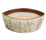 WoodWick Fireside - Fire in the fireplace scented candle with wooden wide wick and lid 453 g