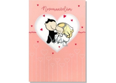 Albi Envelope Playing Cards For Wedding Newlyweds in Heart Wonderful Woman Michal Bold 14.8 x 21 cm