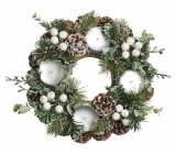 Wreath Advent Shaft Ice Green 22 cm