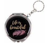 Mirror with text - Life is beautiful