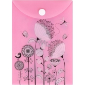 Document Case A6 - Flowers on Pink
