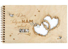 Wedding photoalbum wooden