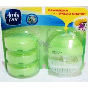 Ambi Pur Fresh Gardens toilet block and 3 refills 4 x 55 ml