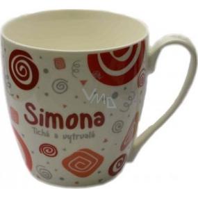 Nekupto Twister mug named Simon red 0.4 liter
