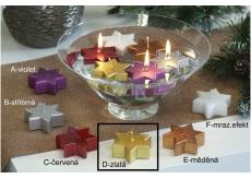 Lima Hvězda plovoucí svíčka zlatá 60 x 60 x 25 mm 1 kus