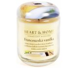 Heart & Home French vanilla Large soy candle burns for up to 70 hours 310 g
