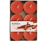 Bolsius Aromatic Maxi Sugar & Spice s vůní cukru a koření vonné čajové svíčky 6 kusů