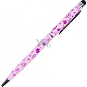 Albi Original Ballpoint pen with stylus Flowers light pink R / Č