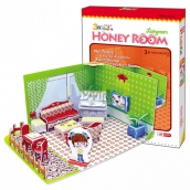 CubicFun Puzzle 3D Honey Room Small Room 49 pieces for children 22 x 11.5 x 17.5 cm