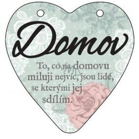 Albi Pendant heart plaque Home 9 cm × 10 cm