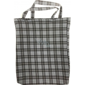 Checkered shopping bag gray-black 41 x 34 x 4 cm 9934