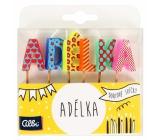 Albi Cake candles name - Adélka, 2.5 cm