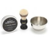 Percy Nobleman shaving cream 100 g + shaving brush + shaving dish cosmetic shaving set for men