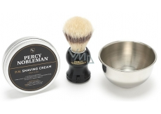 Percy Nobleman shaving cream 100 g + shaving brush + shaving dish cosmetic shaving set for men