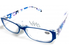 Eyeglasses + 1.5 light blue sides with rectangles MC2084