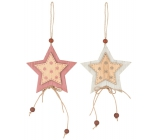 Wooden star, for hanging 7 cm 1 piece