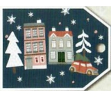 Nekupto Christmas gift cards houses 5.5 x 7.5 cm 6 pieces