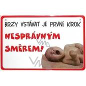 Nekupto Humor po Česku humorná cedulka 027 15 x 10 cm 1 kus