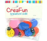 CreaFun Wooden beads Ladybug mix of colors 20 x 25 mm 15 pieces
