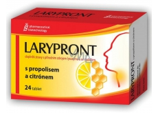 Larypront with propolis and lemon 24 tablets 0326