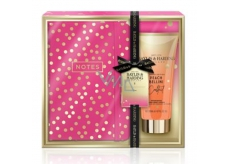 Baylis & Harding Cocktail hour Peach Bellini hand and body lotion 200 ml + notebook, cosmetic set