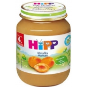 Hipp Fruit Organic Apricots fruit side dish, reduced lactose content and no added sugar for children 125 g