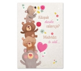 Ditipo Playing birthday card Who is celebrating today? Bear cubs Jaroslav Samson Lenk 224 x 157 mm