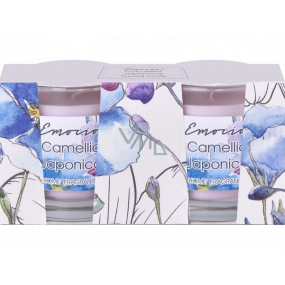 Emocio Camellia Japonica - Camellia scented candle glass 50 x 63 mm 2 pieces in a box