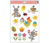Room Decor Window Foil Happy Easter rooster 33.5 x 26 cm