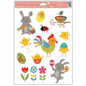 Window foil Happy Easter rooster 33.5 x 26 cm