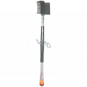 Eyebrow brush with eyelash comb and eye shadow brush 15 cm 130 02