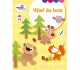 Ditipo Coloring book for šikulky A trip to the forest 21.5 x 27.5 cm age 5-8