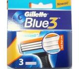 Gillette Blue 3 spare heads 3 blades 3 pieces