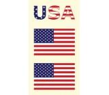 Arch Tetovací obtisky na obličej i tělo USA, Americká vlajka 1 motiv