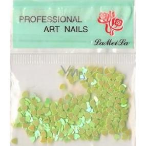 Professional Art Nails nail decorations hearts light green 1 pack