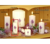 Lima Flower Lavender scented candle light purple with decal lavender cylinder 40 x 90 mm 1 piece