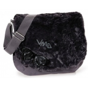 Nici Shoulder bag plush black 33 x 27 cm