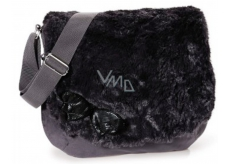 Nici Shoulder bag plush black 33 x 27 cm
