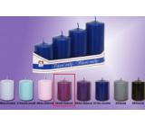 Lima Pyramid Candle smooth medium purple cylinder diameter 40 mm 4 pieces