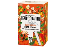 Heat & Heather Organic Turmeric, ginger, galangal and ginseng to support and encourage the body with effective roots supportive tea 20 bags x 1.5 g