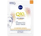 Nivea Q10 Plus C Anti-Wrinkle + Energy 10 minute textile face mask 1 piece