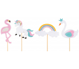 Decoration felt recess 8 cm + skewers 1 piece random selection