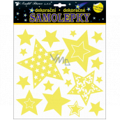 Room Decor Stickers glowing in the dark stars 25 x 25 cm