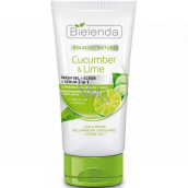 Bielenda Bouquet Nature Cucumber & Lime 3 in 1 cleansing gel and serum with cucumber and lime 150 g