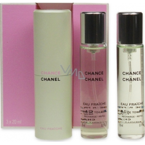 Chanel Chance Eau Fraiche Eau de Toilette Complete for Women 3 x 20 ml