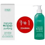 Ziaja Manuka Tree Purifying normalizing day cream 50 ml + Manuka Tree Purifying normalizing washing gel 200 ml, duopack