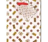 Nekupto Gift paper bag small 14 x 11 x 6,5 cm Christmas 1204 02 WBS